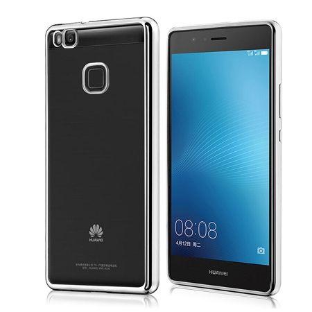 Huawei P9 Lite etui silikonowe platynowane SLIM tpu (Gunmetal) - czarne