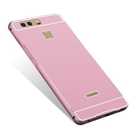Huawei P9 etui aluminium bumper case różowy.