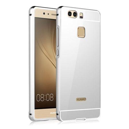 Mirror bumper case na Huawei P9 - Srebrny