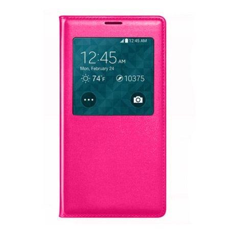 Huawei P8 Lite etui Flip S View z klapką - różowe.