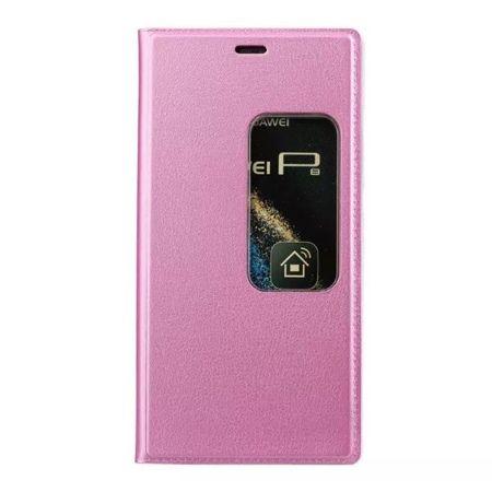 Etui na Huawei P9 Flip S View z klapką - różowe.