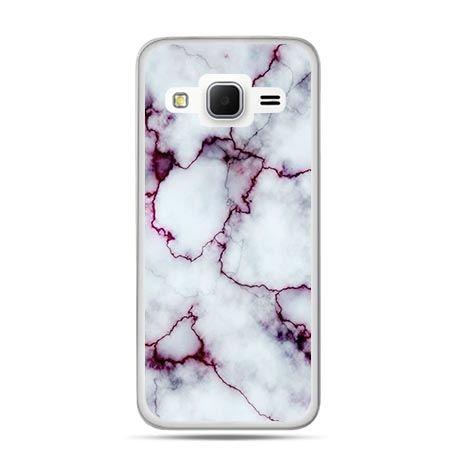 Etui na Galaxy J3 (2016r) różowy marmur