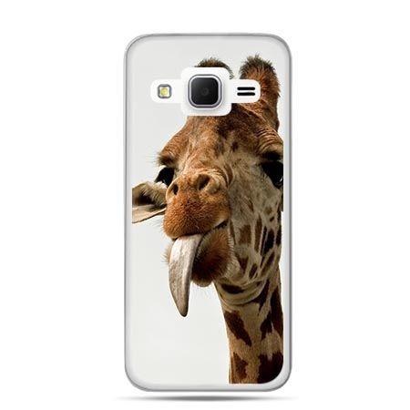 Etui na Galaxy J3 (2016r) żyrafa z językiem