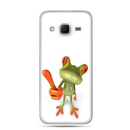 Etui na Galaxy J3 (2016r) śmieszna żaba