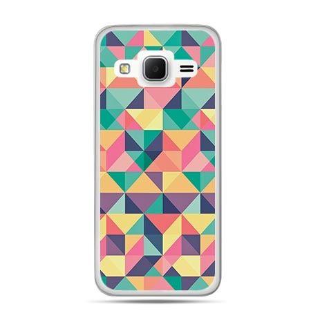 Etui na Galaxy J3 (2016r) kolorowe trójkąty