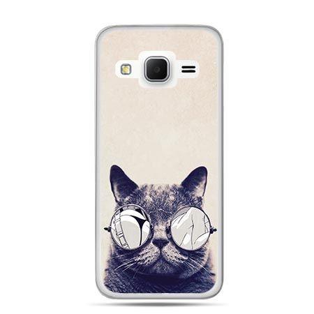 Etui na Galaxy J3 (2016r) kot w okularach