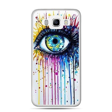 Etui na Galaxy J5 (2016r) kolorowe oko