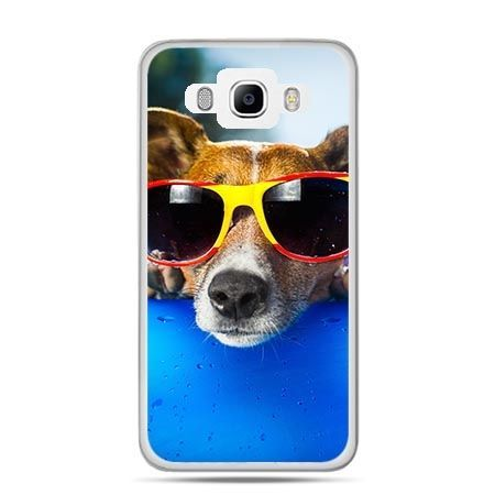 Etui na Galaxy J5 (2016r) pies w kolorowych okularach