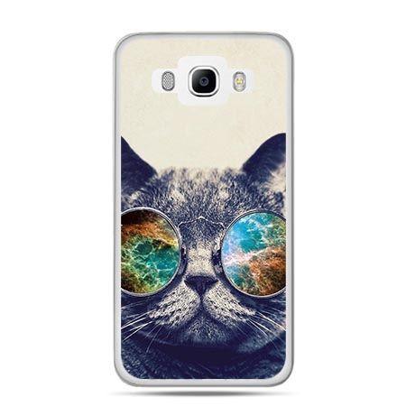 Etui na Galaxy J5 (2016r) kot w tęczowych okularach