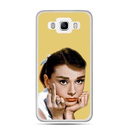 Etui na Galaxy J5 (2016r) Audrey Hepburn Fuck You