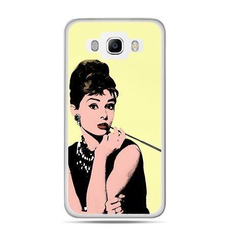 Etui na Galaxy J5 (2016r) Audrey Hepburn z papierosem