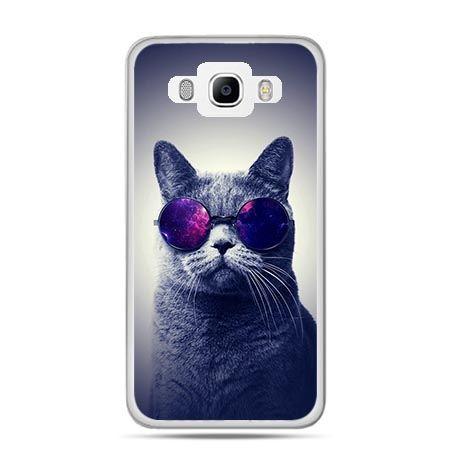 Etui na Galaxy J5 (2016r) kot hipster w okularach
