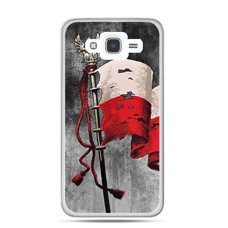 Etui na telefon Galaxy J7 (2016)  patriotyczne - flaga Polski