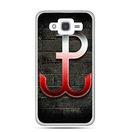 Etui na telefon Galaxy J7 (2016) patriotyczne - Polska Walcząca