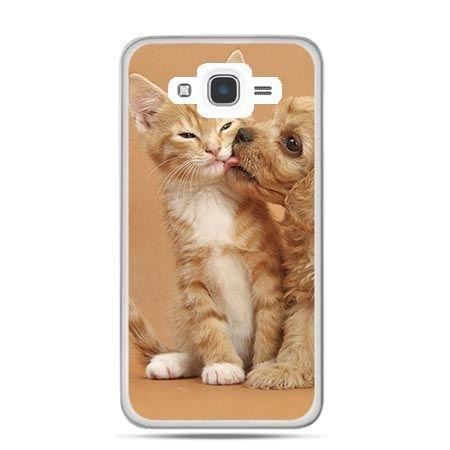 Etui na Galaxy J7 (2016r) jak pies i kot