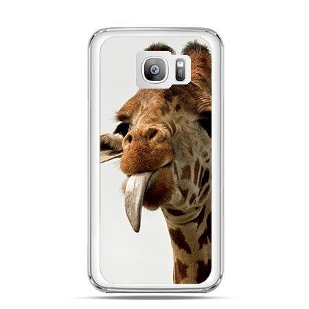 Etui na telefon Galaxy S7 Edge żyrafa z językiem