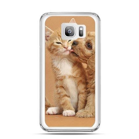 Etui na telefon Galaxy S7 Edge jak pies i kot
