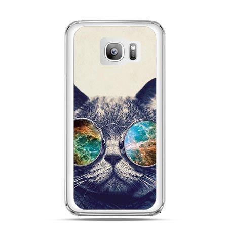 Etui na telefon Galaxy S7 Edge kot w tęczowych okularach