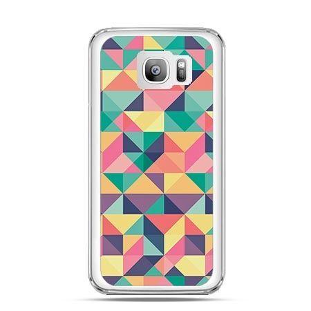 Etui na telefon Galaxy S7 Edge kolorowe trójkąty