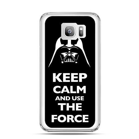 Etui na telefon Galaxy S7 Edge Keep calm and use the force