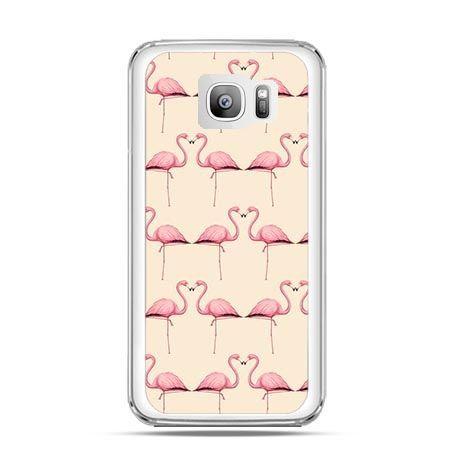 Etui na telefon Galaxy S7 Edge flamingi