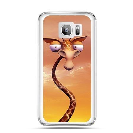Etui na telefon Galaxy S7 Edge śmieszna żyrafa