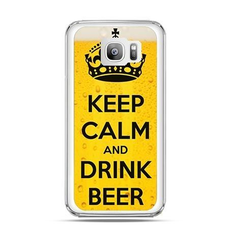 Etui na telefon Galaxy S7 Edge keep calm and drink beer