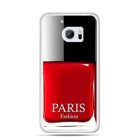 Etui na telefon HTC 10 lakier do paznokci czerwony