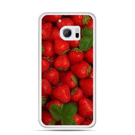 Etui na telefon HTC 10 czerwone truskawki