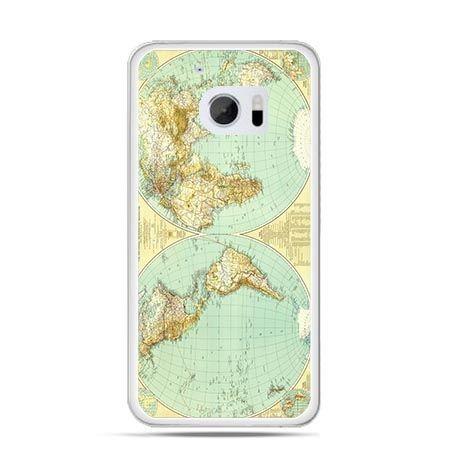 Etui na telefon HTC 10 mapa świata