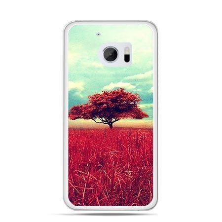 Etui na telefon HTC 10 czerwone drzewo