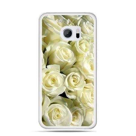 Etui na telefon HTC 10 białe róże