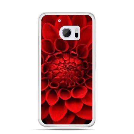 Etui na telefon HTC 10 czerwona dalia