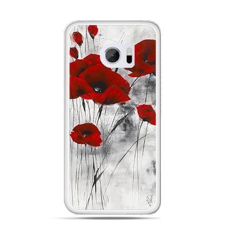 Etui na telefon HTC 10 czerwone maki