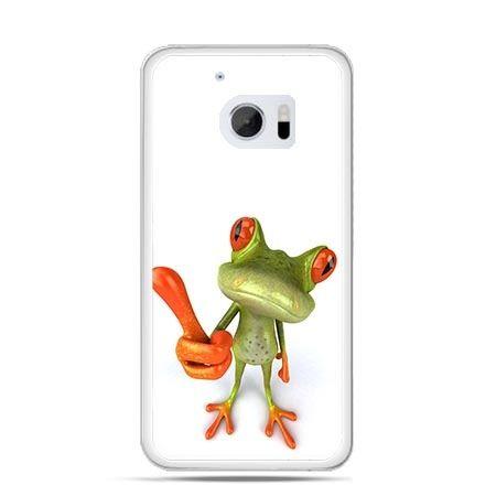 Etui na telefon HTC 10 śmieszna żaba