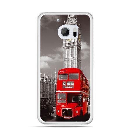 Etui na telefon HTC 10 czerwony autobus londyn