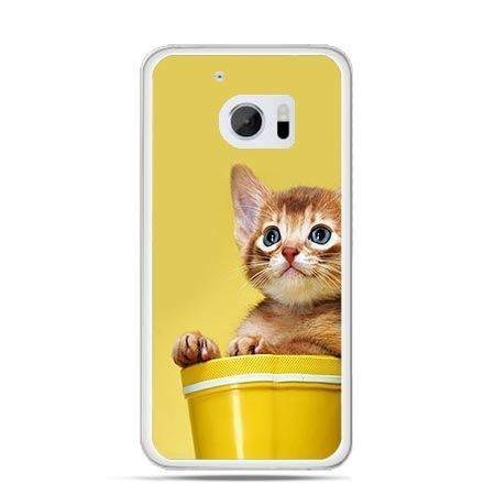 Etui na telefon HTC 10 kot w doniczce