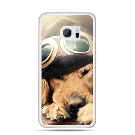 Etui na telefon HTC 10 pies w okularach
