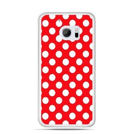 Etui na telefon HTC 10 czerwona polka dot