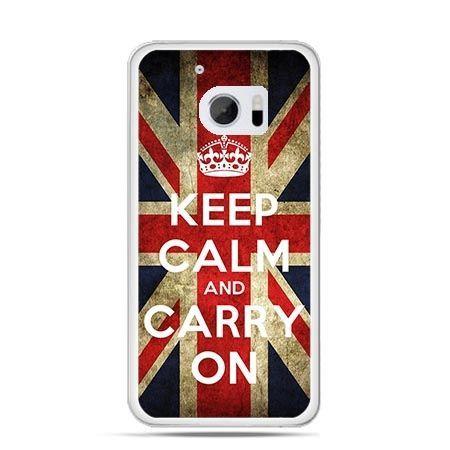 Etui na telefon HTC 10 Keep calm and carry on