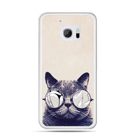 Etui na telefon HTC 10 kot w okularach