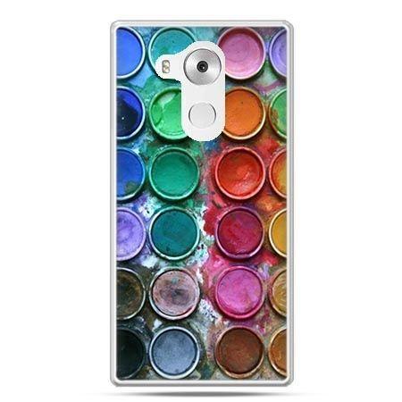 Etui na telefon Huawei Mate 8 kolorowe farbki
