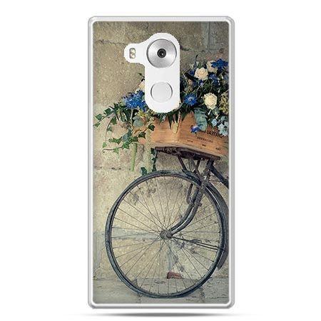 Etui na telefon Huawei Mate 8 rower z kwiatami