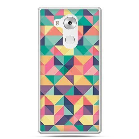 Etui na telefon Huawei Mate 8 kolorowe trójkąty