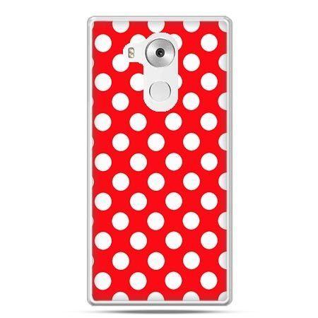 Etui na telefon Huawei Mate 8 czerwona polka dot