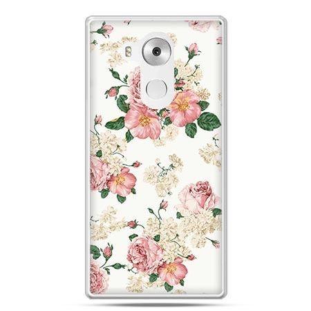 Etui na telefon Huawei Mate 8 polne kwiaty