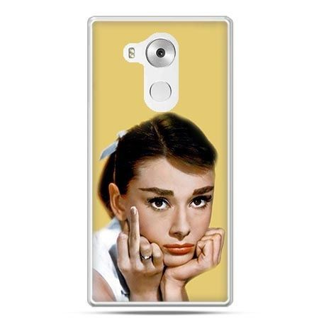 Etui na telefon Huawei Mate 8 Audrey Hepburn Fuck You