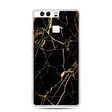 Etui na telefon Huawei P9 złoty marmur