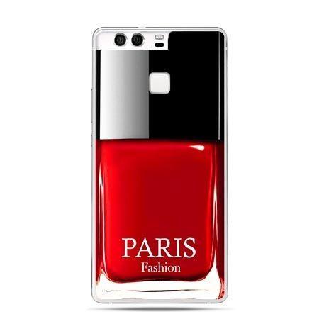 Etui na telefon Huawei P9 lakier do paznokci czerwony