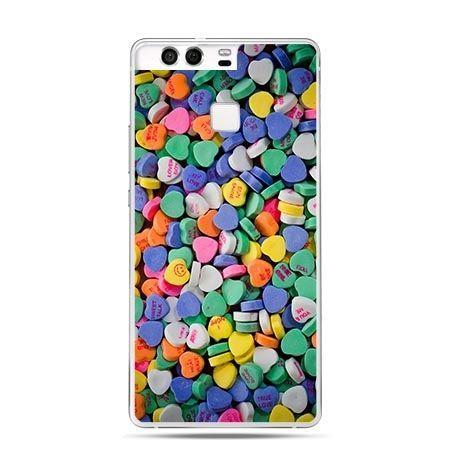 Etui na telefon Huawei P9 slodkie serduszka